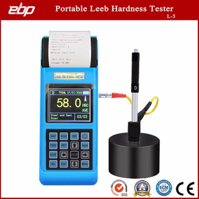 Factory Directly Supply Digital Color Screen Portable Leeb Hardness Tester with Printer L-5 with Best Price