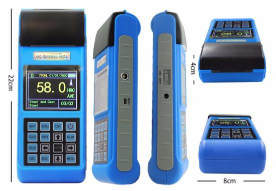 of High Quality Portable Color Screen Digital Rebound Hardness Testing Instrument