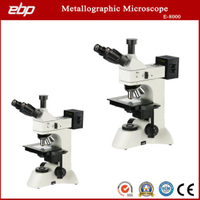 E-8000 Upright Trinocular Metallurgical Microscope with Infinity Long-Range Flat Field Achromatic Objective Lens