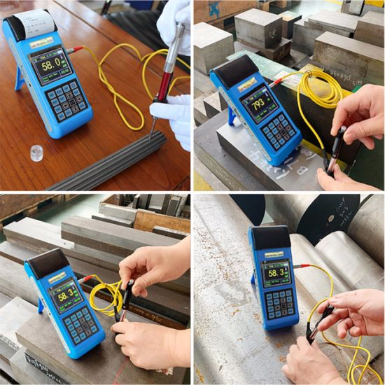 Factory Directly Supply Digital Color Screen Portable Leeb Hardness Tester with Printer