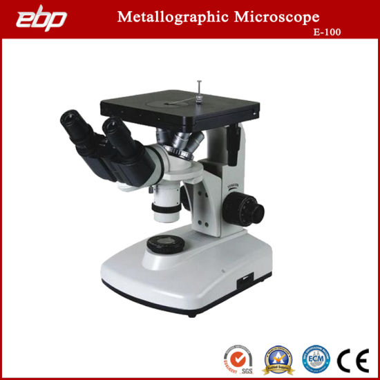 E-100 Inverted Binocular Metallurgical Microscope 100X - 1250X